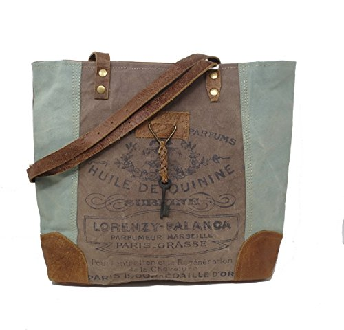 Chloe & Lex Vintage Recycled Canvas Parfum French Print Tote