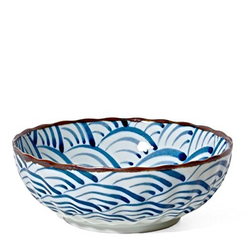 "Blue Ocean Wave Bowl 7.25""diam."