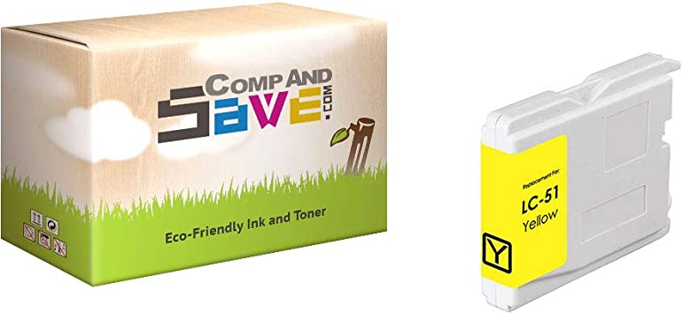 NEW Brother LC51Y LC51 Yellow Ink Cartridge Genuine