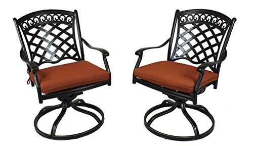 A Pair of St. Tropez Swivel Rockers