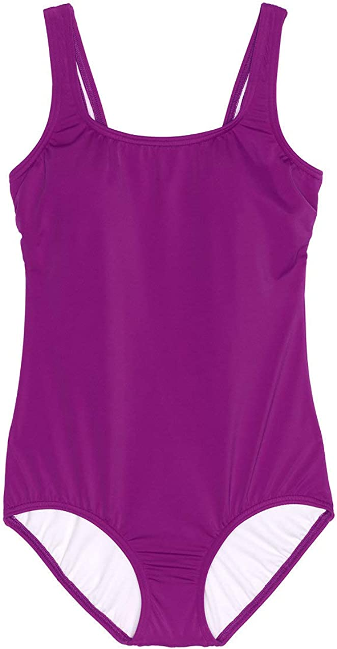Lands End Womens Tugless One Piece Swimsuit Soft Cup 16 Violet Rose