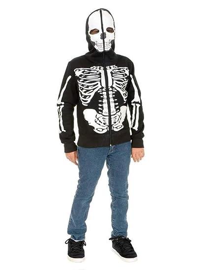 Amazon.com: Esqueleto Sudadera con capucha disfraz – pequeño ...