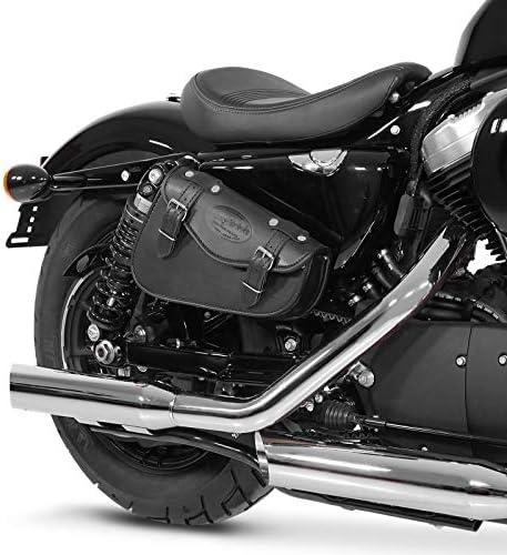125 C schwarz Links Satteltasche 3L f/ür Honda Shadow VT 750//600
