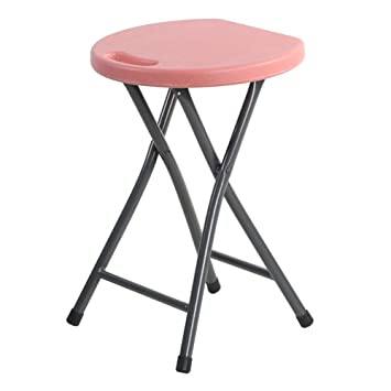 LIXIONG Chaise Pliante Plastique Portable Agile Bar Menage De Plein Air Tabourets Ronds 46cm