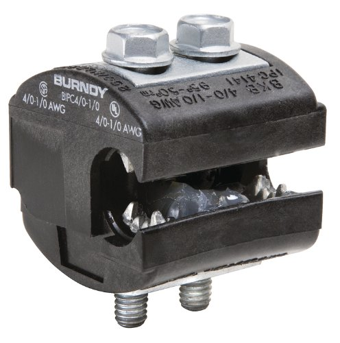 Burndy BIPC4/0-1/0 Burndy Insulation Piercing Connector, 4/0 - 1/0 AWG Run, 4/0 - 1/0 AWG Tap, 2.06