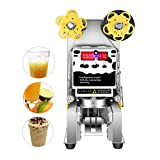 (US Warehouse Delivery)450W Commercial Electric Fully Automatic sealer Paper/Plastic cup sealing machine for Bubble Milk Tea Coffee Smoothies Sealer 90/95mm