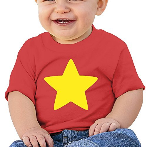 [Jirushi Infants &Toddlers Baby's Steven Cool Star Red T Shirts For 6-24 Months] (Red Baron Baby Costume)