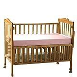 THXSILK Pure Silk Fitted Crib Sheets, Organic Crib Bedding-Ultra Soft, Smooth, 100% Top Grade Mulberry Silk, 28' x 52' x 8', Girl, Pink