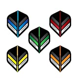 Hardcore Stripes Selection Pack Extra Thick Standard Dart Flights - 5 sets Per Pack (15 Dart Flights in total) & Red Dragon Checkout Card