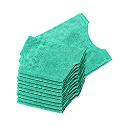 Real Clean Microfiber Refills Compatible with Swiffer and Clorox ReadyMop (Pack of 12) Reusable