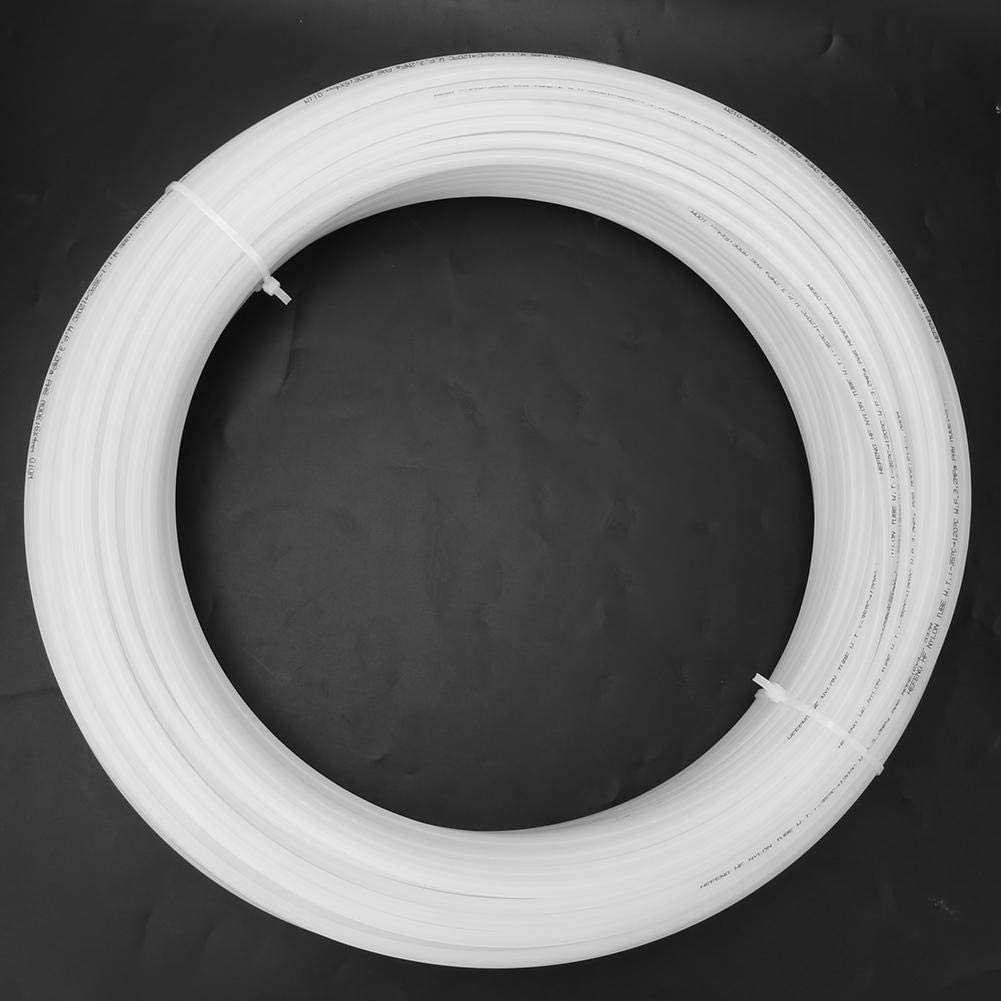 Hose White Flexible Nylon Tube High Pressure Pneumatic Air Hose Tubing 100m for Air Oil Water(8 * 6) 6*4