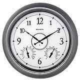 AcuRite 75455M LED Illuminated Outdoor Clock, 18', Pewter