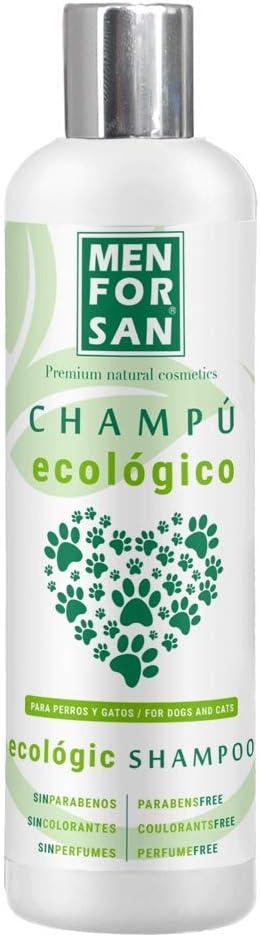 MENFORSAN Champú Ecológico Perros Y Gatos 300Ml | con Ingredientes 100% Biodeegradables | Hidrata Y Suaviza | Disminuye La Grasa En El Pelaje, Un tamaño 300 g