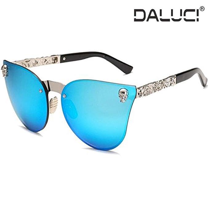 92cd96bf2 DALUCI Sunglasses Fashion Women Gothic Eyewear Skull Frame Metal Oculos de  sol UV400 (Lens :