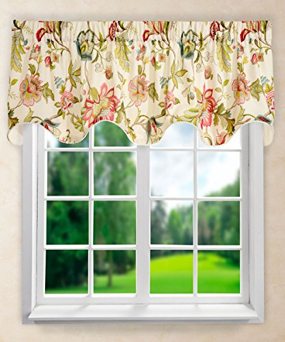 Ellis Curtain Brissac Lined Scallop Valance, 70 x 17