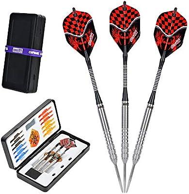 ONE80 Darts, 90% Tungsteno Professional Perfection Steel Darts Arrows Set, 22 23 24 Gram Steeldarts profesional con almacenamiento / estuche de viaje: Amazon.es: Deportes y aire libre