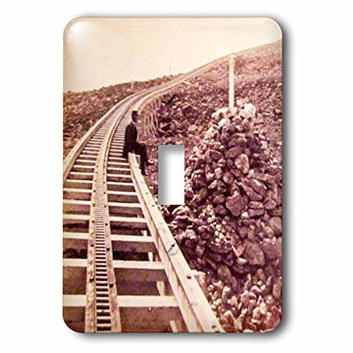 3dRose Scenes from the Past Vintage Stereoview Cards - Mount Washington Railroad Concord New Hampshire Train Tracks 1880 - Light Switch Covers - single toggle switch - New Hampshire Concord Outlets