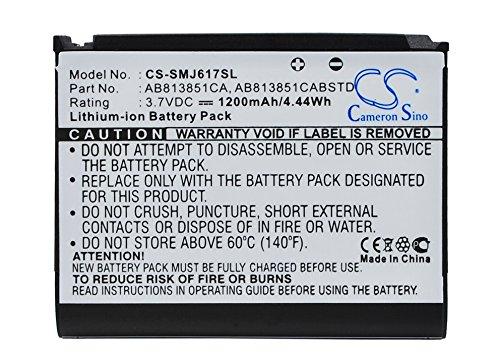 Blackjack Li Ion Battery - Battery Replacement for Samsung Blackjack II, DM-S105, SGH-i617, SPH-M510, Stripe Part NO AB813851CA, AB813851CABSTD