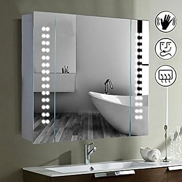 Modern Mirror Design Led Beleuchteter Badezimmer Spiegelschrank Mit