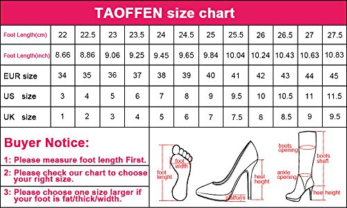TAOFFEN Women Fashion Round Toe Block Heel Mary Jane Court Shoes Red SpUNNrK