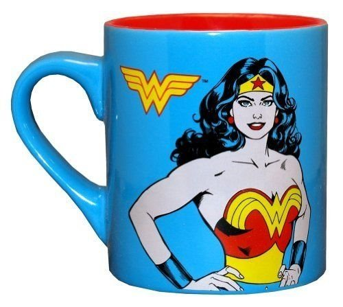 [Wonder Woman Superhero Ceramic Coffee Mug 14 oz.] (Hot Superhero Women)