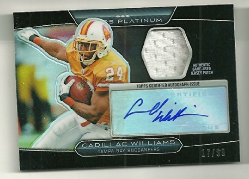 2010 Topps Platinum Football Cadillac Williams Black Refractor Auto Jersey # 17/99 ()