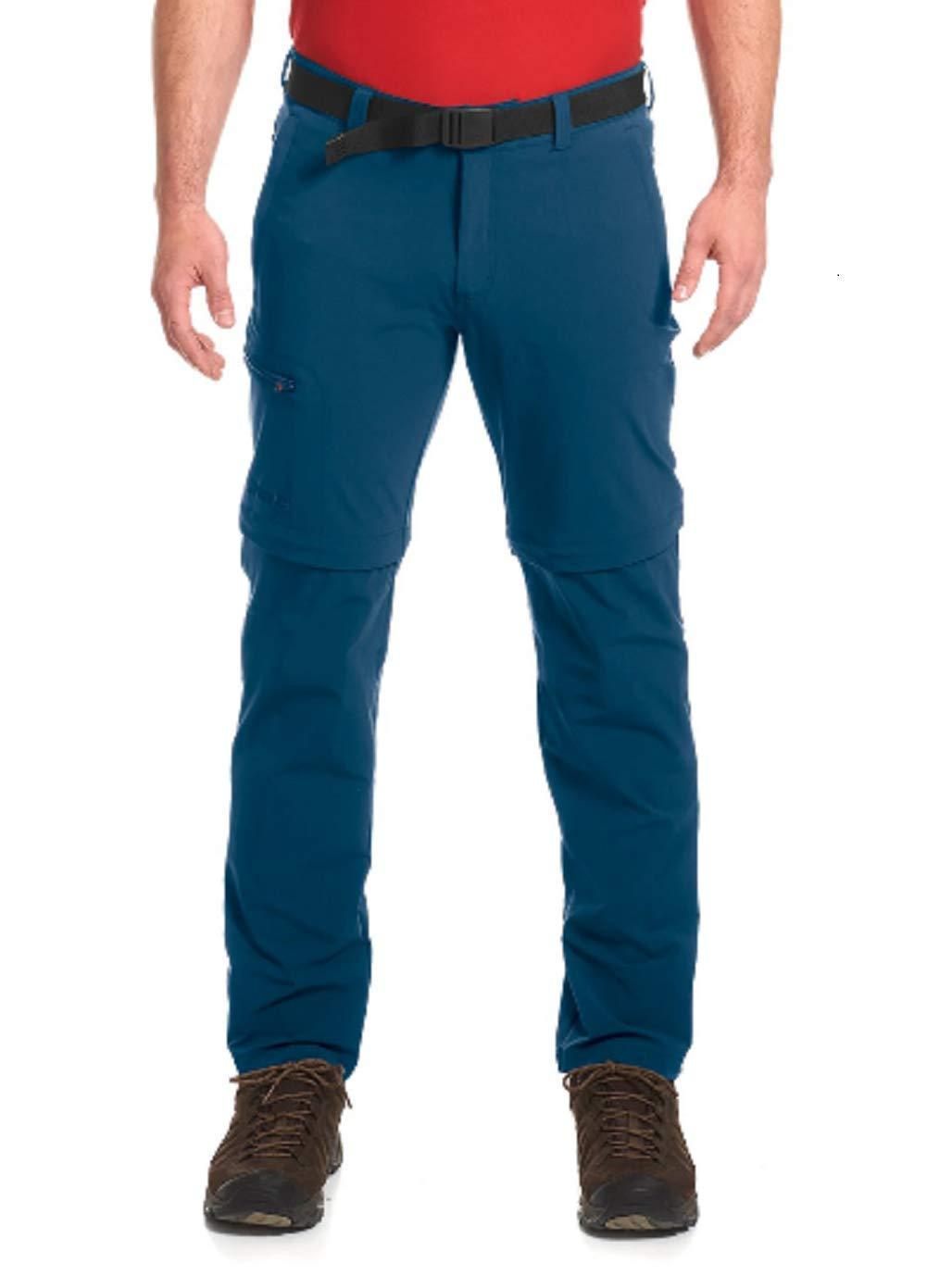 Ensign bleu Taille 33 Maier Sports Tajo Pantalon à Fermeture éclair pour Homme Marron Teak XS