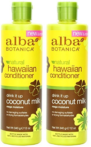 Alba Botanica, Drink It Up Coconut Milk Hawaiian Conditioner, 12 Ounce Bottle