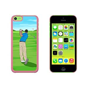 Golf - Golfing Golfer Sport Snap On Hard Protective Case for Apple iPhone 6 plus 5.5 - Pink