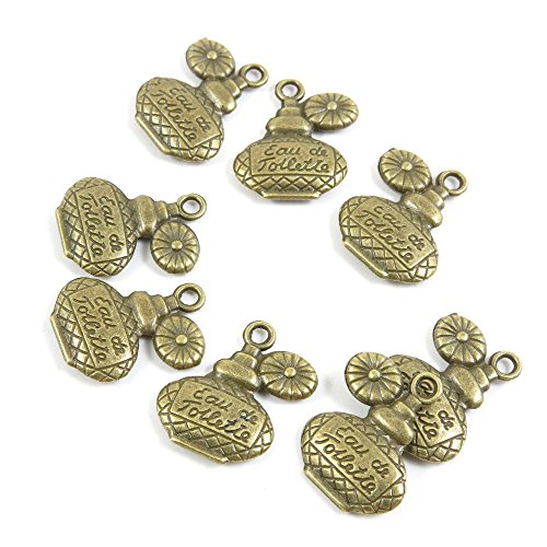 Bijou Perfumes - 410 Pieces Retro Bijou Pendentif Jewelry Making Supply Charms Findings Bronze Tone P1NU6 Perfume Flagon