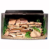 SeaClear 46 gal Bowfront Acrylic Aquarium Combo Set, 36 by 16.5 by 20'', Black