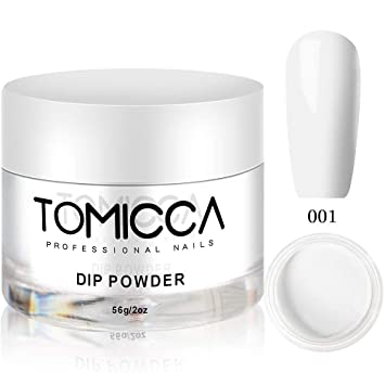 Tomicca Dipping Powder, French White Colors Dip Powder, 2 oz, 56g, for  French Manicure Nail Art Set (001)