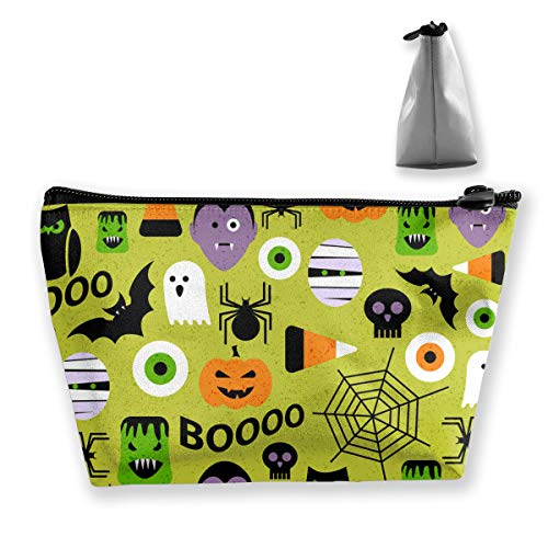 Womens & Men Waterproof Oxford Cloth Cosmetic Bags - Travel Makeup Storage Case Pumpkin Bat Spider Web Halloween Party Patterns Toiletry Bag ()
