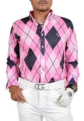 【コモンゴルフ】 COMON GOLF 吸水速乾 オープンタイプ 長袖 ゴルフ ポロシャツ CG-LP710N XL color:B