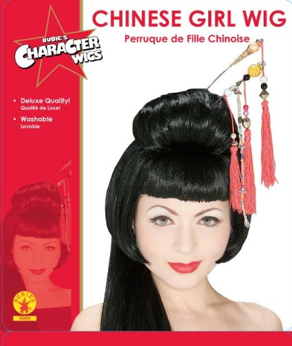 Peluca de geisha china para mujeres adultas, talla única: Amazon.es: Juguetes y juegos