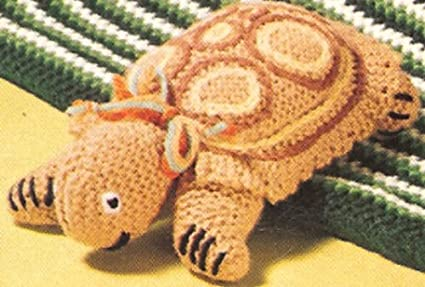 Knitted Turtle Tortoise Stuffed Soft Toy