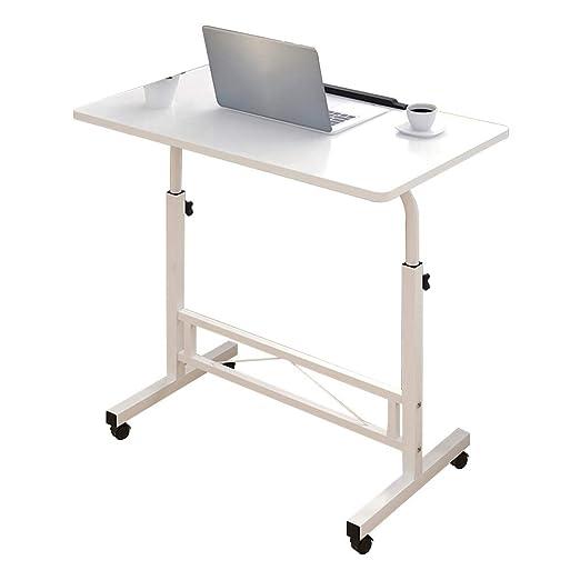 Escritorio para Laptop Blanco cálido Rectangular Ajustable Altura ...