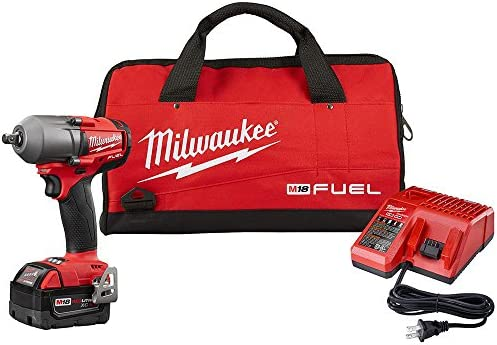 Milwaukee 2860-21 M18 FUEL 1 2 Mid-Torque Impact Wrench Kit w Pin Detent