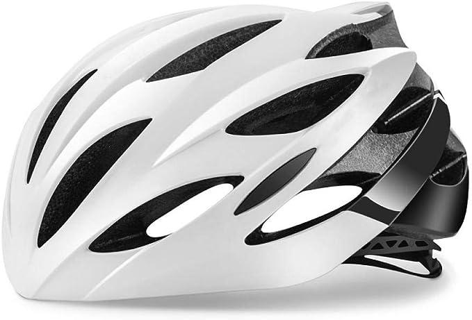 SYYC Casco de Bicicleta Unisex para Adultos,Cascos de Cintura Ajustable MTB y VTC Casco de Ciclismo Integrado Ultraligero para Carretera,Hombres-Carreras,protección de Seguridad: Amazon.es: Deportes y aire libre