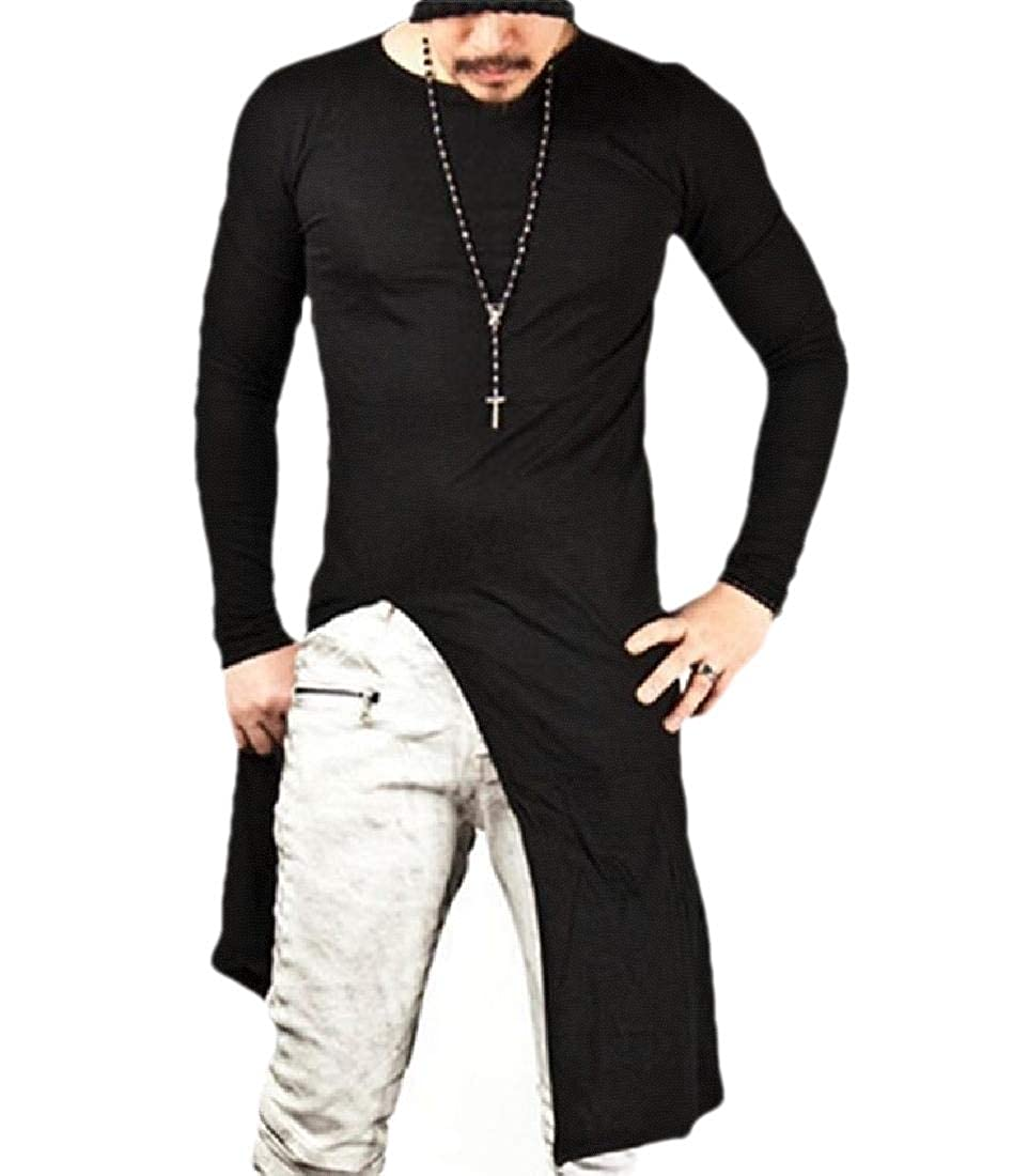 Mens Pullover Long Sleeve Round Neck Blouses Tops Shirt