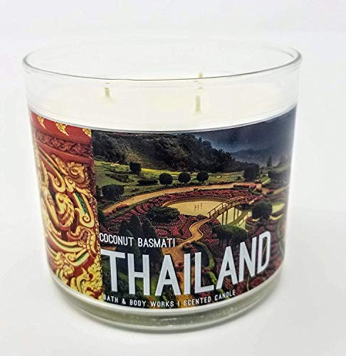 Bath & Body Works- 3 Wick Scented Candle - Coconut Basmati – THAILAND - 14.5 Ounce