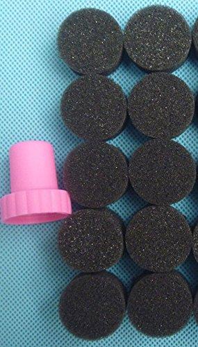 Tool Set Template Stamp Nail Art Stamping Type Black Sponge 10pcs with 1 Stamper