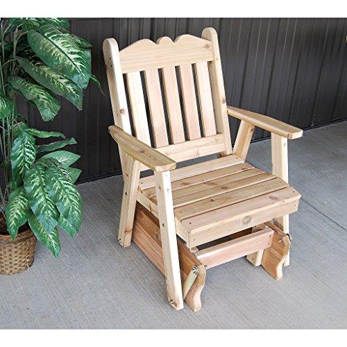 Western Red Cedar Glider (A & L Furniture Co. Western Red Cedar Royal English Glider Chair)