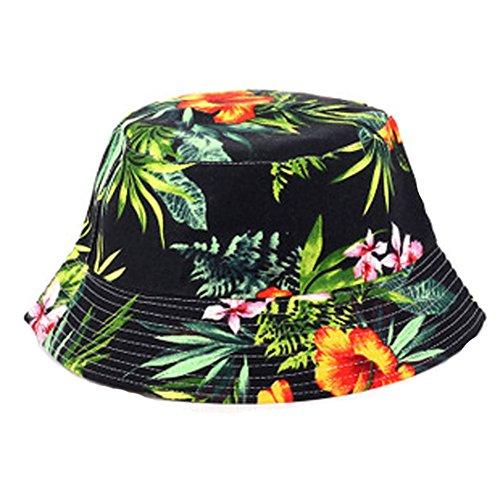 pusheng Fashion Unisex Bucket Hat Sun Floral Sommer Angeln Outdoor Gap Gr. One size,  - #3