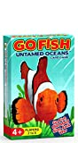 number card games - GO FISH Untamed Oceans ~ a 4-in-1 Classic Card Game for Kids ( GO FISH, OLD MAID, WAR and SLAP JACK ) ~ 4 Classic Kids Games in ONE Beautifully Illustrated Deck Featuring Ocean Animals