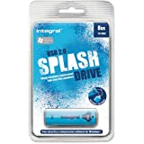 Integral Splash Flash Drive USB 2.0 with Software for MacOS9 or Windows 8GB Blue Ref INFD8GBSPLB