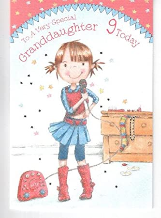 To a very special granddaughter 9 today birthday card karaoke to a very special granddaughter 9 today birthday card karaoke singing design bookmarktalkfo Image collections