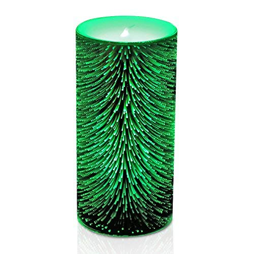GiveU Color Changing Glass Timer Flameless Led Candle for Halloween and Christmas, 3