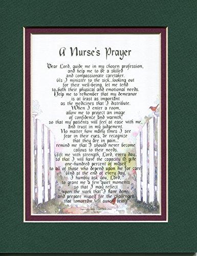 A Nurse's Prayer A Gift Poem Graduation Present For A Nurse. #167