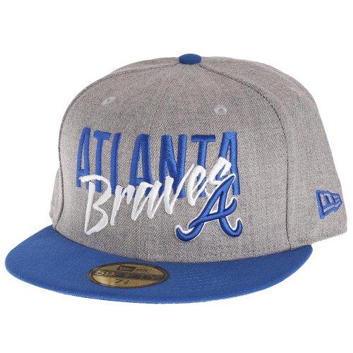 New Era 59Fifty Casquette - WORDFRONT Atlanta Braves gris